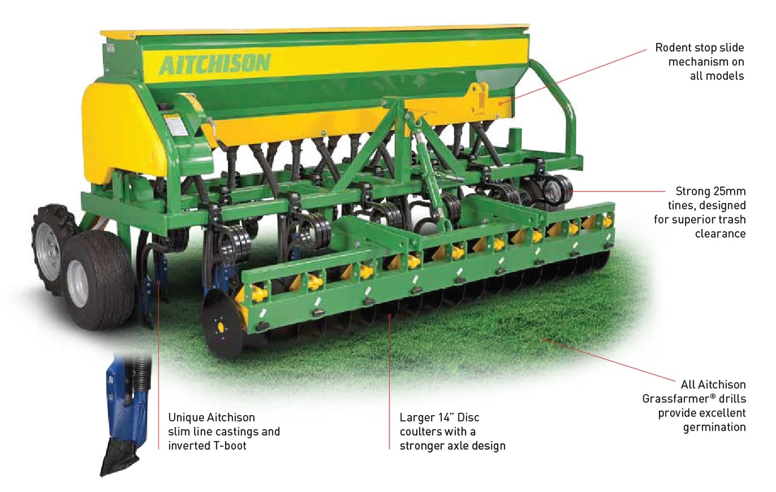 Aitchison Tine Drills - GrassFarmer Disc Series Features