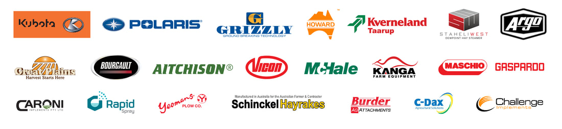 Westag stocks the following brands; Kubota, Polaris, Valtra, Grizzly, Howard and Argo